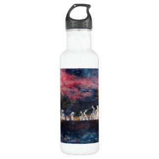 """El """"trueno silencioso"""" tejó la botella abstracta"""