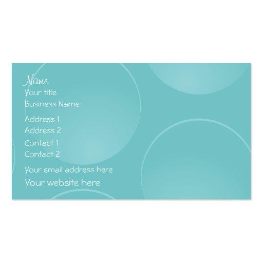 El trullo azul moderno burbujea tarjeta de visita