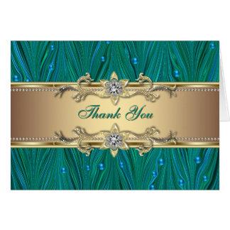 El trullo Blule del jade de las perlas del pavo re Felicitaciones