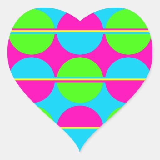El trullo de las rosas fuertes de la verde lima pegatinas de corazon personalizadas
