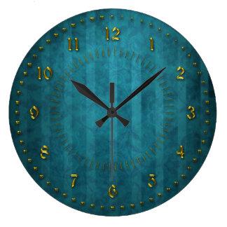 El trullo de TTurquoise peló numerado Relojes De Pared