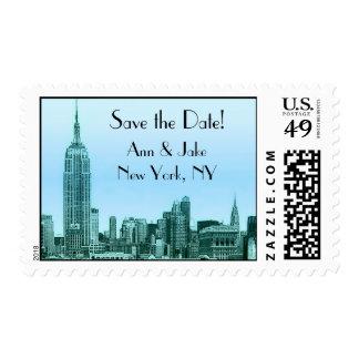 El trullo del horizonte de NYC grabó al agua Sello Postal