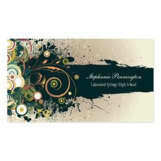 El trullo oscuro apenado remolina tarjeta de tarjetas de visita