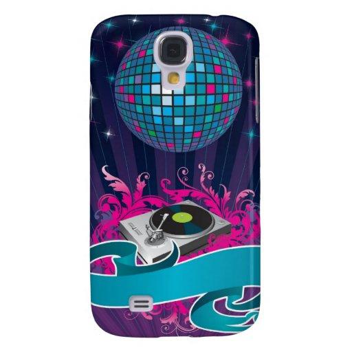 El trullo púrpura rosado DJ hace girar la caja del Funda Para Galaxy S4