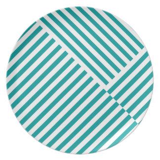 El trullo raya la placa del modelo plato para fiesta