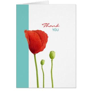 El trullo rojo de la amapola le agradece tarjeta d