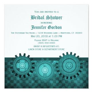 El trullo Steampunk adapta la ducha nupcial invita Invitación 13,3 Cm X 13,3cm