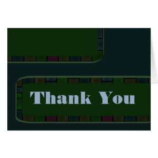 El trullo verde le agradece tejar la frontera tarjeta de felicitación