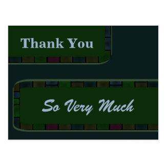 El trullo verde le agradece tejar la frontera tarjeta postal