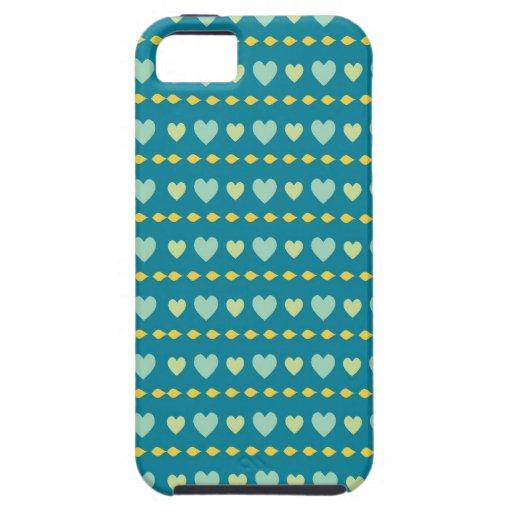 El trullo y el corazón amarillo modelan el iPhone 5 Case-Mate cobertura