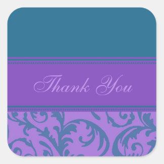 El trullo y la púrpura le agradecen los sellos del pegatina cuadrada