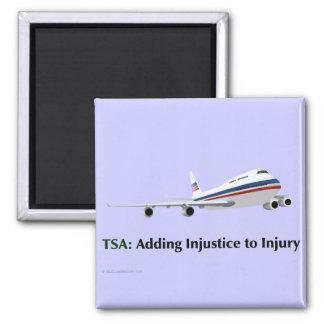 El TSA apenas está añadiendo injusticia a lesión Imán Cuadrado