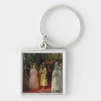 El Tsar que elige a una novia, c.1886 Llavero Cuadrado Plateado