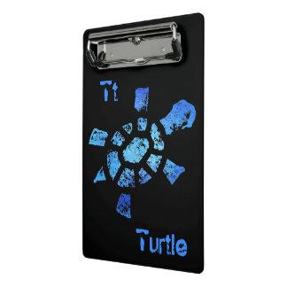 El Tt está para la tortuga Minicarpeta De Pinza