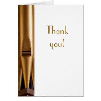 El tubo de órgano le agradece cardar tarjeta de felicitación