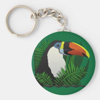El Tucan magnífico Llavero Redondo Tipo Pin