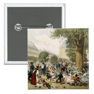 El Tuileries, 1856 Pin Cuadrada 5 Cm