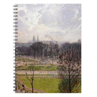 El Tuileries cultiva un huerto tarde del invierno Libros De Apuntes