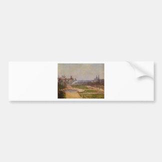 El Tuileries y el Louvre de Camille Pissarro Pegatina Para Auto