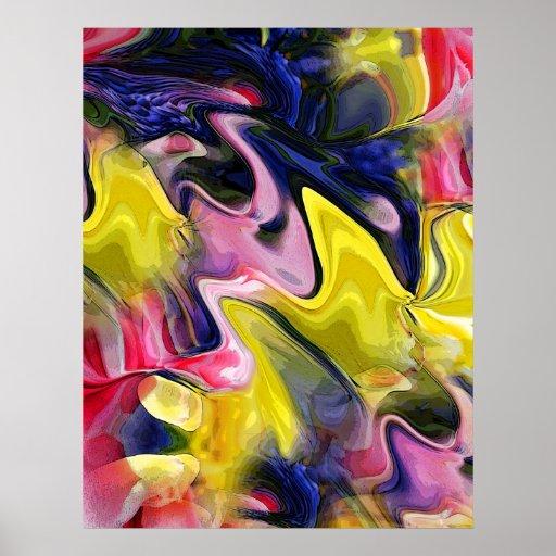 El tulipán colorea el poster abstracto