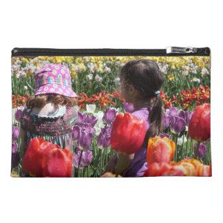 El tulipán cultiva un huerto los mitones y los emb