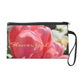 El tulipán del ROSA del puse del embrague del flor