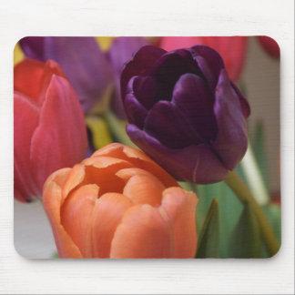 El tulipán diseñó el cojín de ratón alfombrilla de ratón