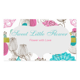 El tulipán dulce florece la tarjeta de visita