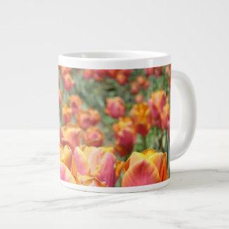 El tulipán florece ajustes de la tabla de los tuli tazas extra grande