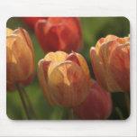 El tulipán florece cojín de ratón tapete de ratones