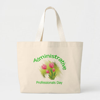 El tulipán florece día administrativo de los profe bolsa tela grande