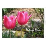 El tulipán le agradece cardar tarjetas