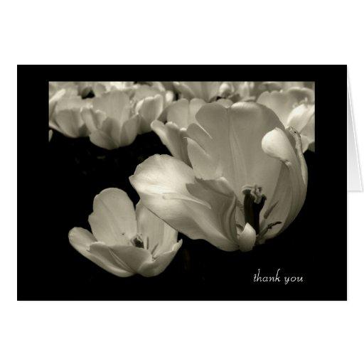 El tulipán le agradece tarjeton