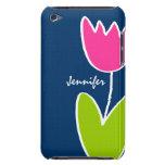 El tulipán moderno personalizó la caja del tacto 4 iPod touch Case-Mate funda
