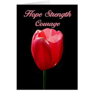 El tulipán rojo de Parkinson del valor de la Tarjeta De Felicitación