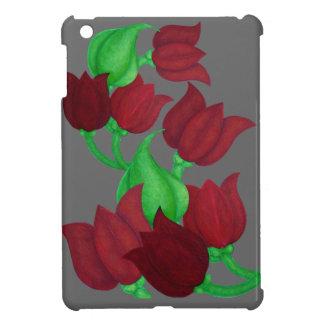 El tulipán rojo florece el arte original E.L.D. iPad Mini Cárcasas