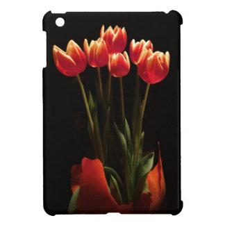 El tulipán rojo florece la mini caja del iPad iPad Mini Cobertura