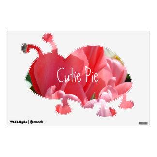 El tulipán rosado de las etiquetas de la pared de vinilo