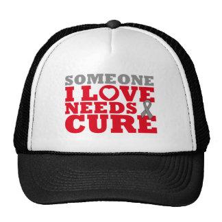 El tumor cerebral alguien amor de I necesita una c Gorros Bordados