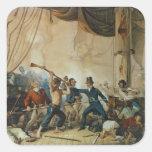 El tumulto a bordo el Chesapeake, 1813 Pegatina Cuadrada