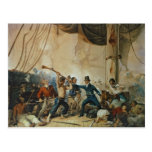 El tumulto a bordo el Chesapeake, 1813 Postal