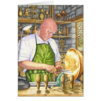 El Turner de madera Tarjeta De Felicitación