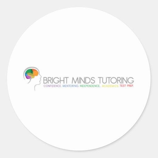El Tutoring brillante de las mentes Etiquetas Redondas