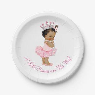 El tutú étnico de la bailarina gotea a la princesa platos de papel
