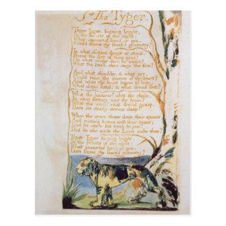 El Tyger, de canciones de la inocencia Tarjeta Postal