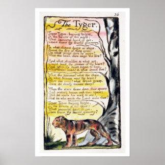 """""""El Tyger"""", platea 36 (Bentley 42) de 'canciones d Poster"""