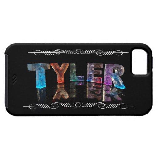 El Tyler conocido - nombre en las luces iPhone 5 Fundas