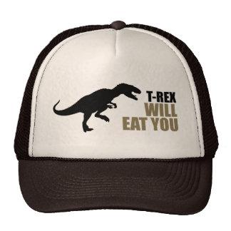 El Tyrannosaurus Rex le comerá Gorros