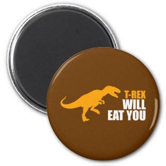El Tyrannosaurus Rex le comerá Imán Para Frigorifico