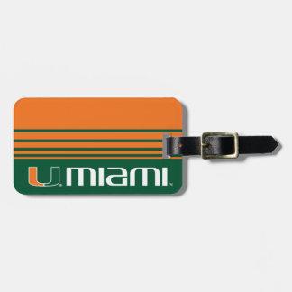 El U Miami Etiqueta Para Maleta